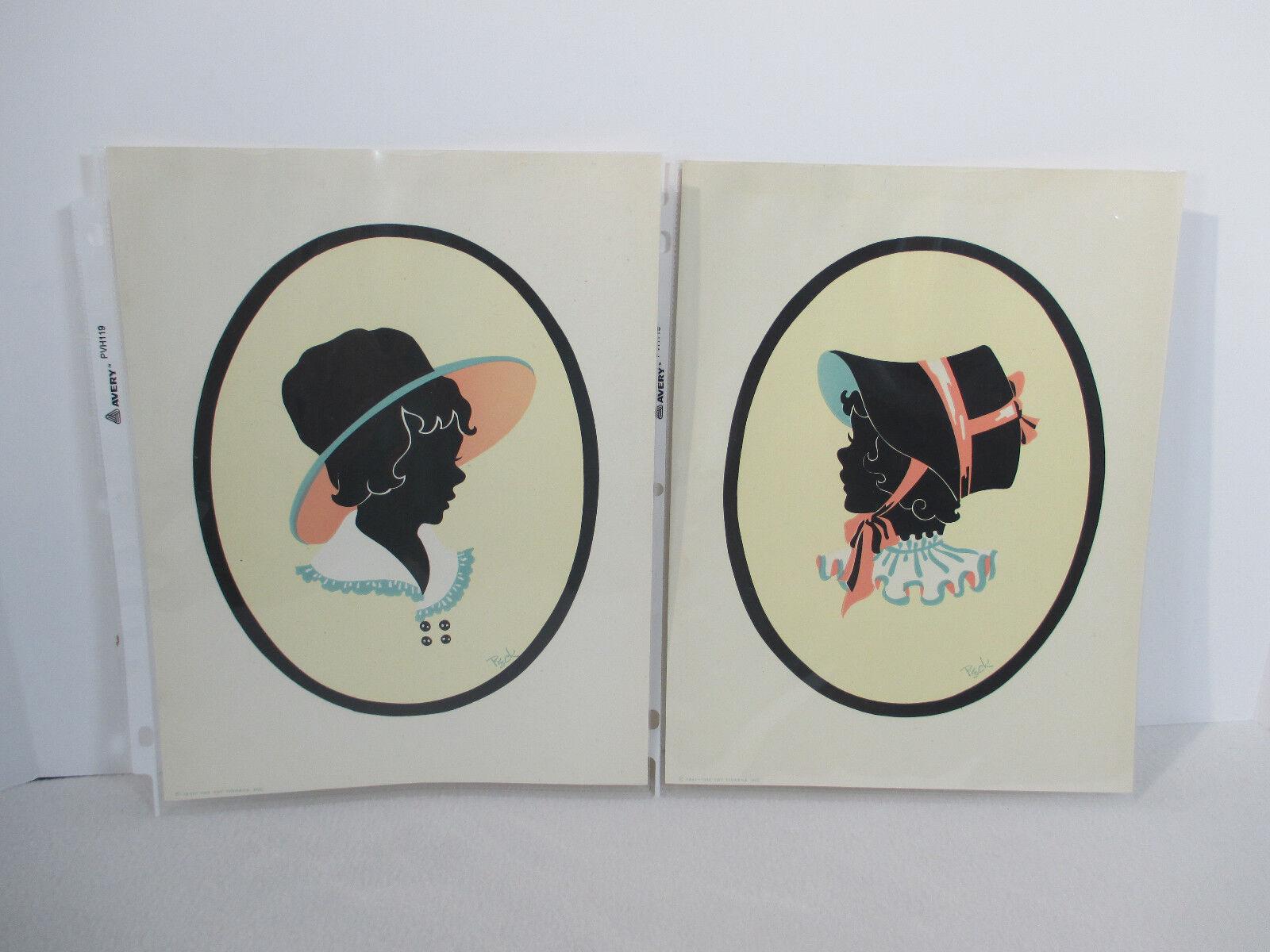The leksak Tinkers Silhouette Print flickor Bonnet årgång 1941 Tinkerleksaker 2 Pictures