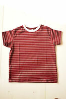 BOYS KIDS GIRLS T- SHIRTS SPORT TOP STRIPED PLAIN CREW NECK TOPS GYM PE AGE 4-11