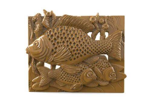 3d STL Model for CNC 081 Router Engraver Carving Machine Relief Artcam Fishs