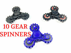 10 SPINNER HAND FIDGET GEAR ANXIETY STRESS FINGER DESK TOY FOCUS EDC AUTISM ADHD
