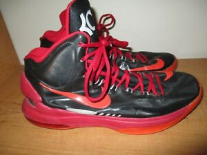25dbc3372cbc Nike Air Zoom Kevin Durant KD V 5 (554988-005) Black Red Men Shoes ...