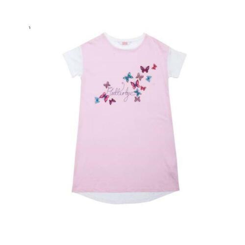 Minijammies Girls Butterfly Knit Minishirt Nightie Nightshirt Nightdress 5068