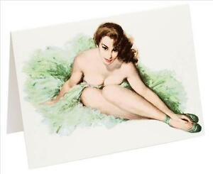 Birthday-Pin-Up-Girl-Card-Lady-Vintage-Burlesque-By-034-Crumpet-amp-Skirt-034-15-Xmas