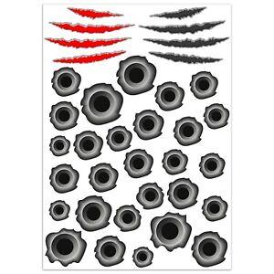 Set-36-PVC-Vinyle-Autocollants-Bullet-Hole-Trous-de-Balles-Stickers-Voiture-Moto