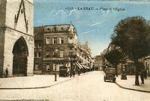 Carte-ALLEMAGNE-LANDAU-Place-de-l-039-Eglise