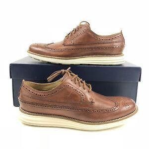 Cole-Haan-OriginalGrand-Long-Wingtip-Oxford-Leather-Woodbury-Brown-US-Men-Size