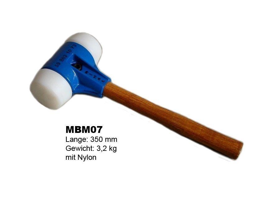 PFLASTERHAMMER PLATTENLEGERHAMMER PROFI HAMMER HANDWERKZEUG GUMMIHAMMER MBM07