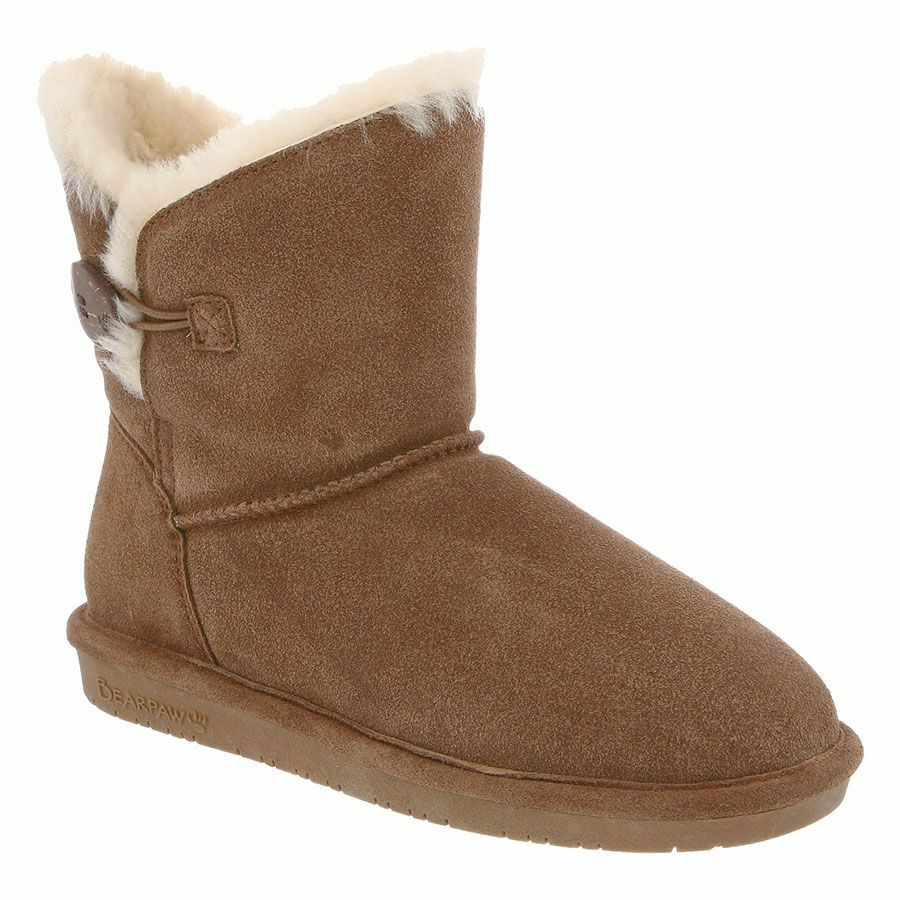 Women Bearpaw Rosie Fashion Boot 1653W Hickory II Suede 100% Authentic New