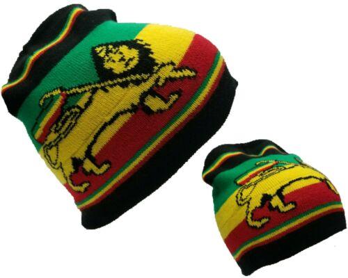 Black Rasta Weed Leaf Bob Marley King Haile Selassie Tam Beanie Beanies Cap Hat