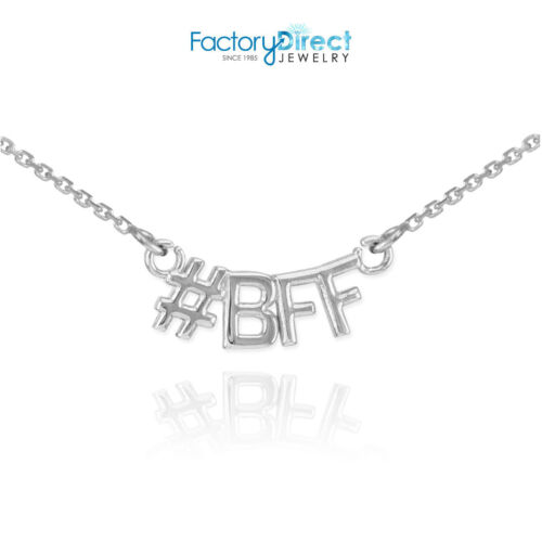 #BFF Sterling Silver Necklace