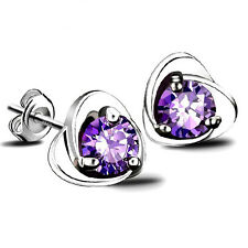 Amethyst Sterling Silver Hot Studs