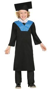 best cheap 9d67a 64d3b Dettagli su Ragazzi Bambini Toga di Laurea Scuola Vestaglia Festa Del Libro  Costume Vestito