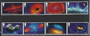 GREAT-BRITAIN-2020-VISIONS-OF-THE-UNIVERSE-SET-OF-8-IN-PAIRS-FINE-USED