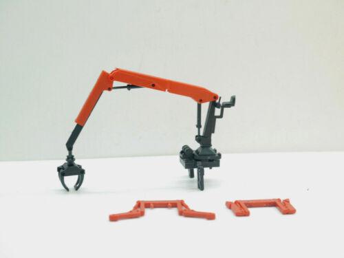 1:87 EM135 Bausatz Holz Ladekran in rot Kibri für Herpa und Co Umbau Eigenbau