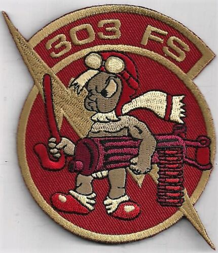 THE CLASSIC /'LITTLE BOY/'  FOR CURRENT DEPLOYMENT   DESERT USAF 303rd FS PATCH