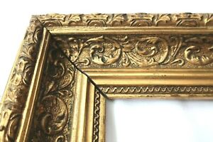 "ANTIQUE FITS 8 X10"" GOLD PICTURE FRAME WOOD GESSO ORNATE FINE ART COUNTRY"