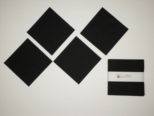 """5/"""" Charm pack Solid Black White Dark Gray Cotton Quilt Squares for Sewing Craft"""