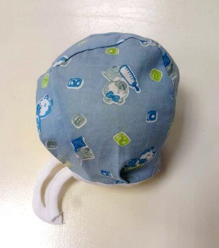 Babymütze Erstlingsmütze Neugeborene Baumwollmütze Bindemütze 0-2 Monate