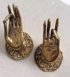 Goddess Hands Door Handles Golden Bronze Patina