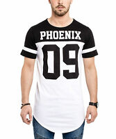 Phoenix Eclipse Oversize T-Shirt White Fashion Longshirt Langes Tee Herren Men
