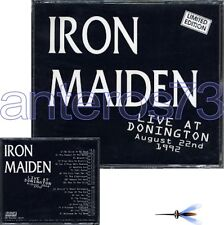 "IRON MAIDEN ""LIVE AT DONINGTON"" DOUBLE CD ITALY LIMITED"