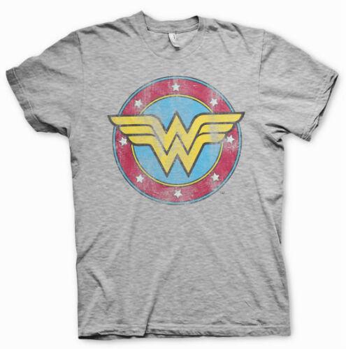 WONDER WOMAN Logo  T-Shirt  camiseta cotton officially licensed