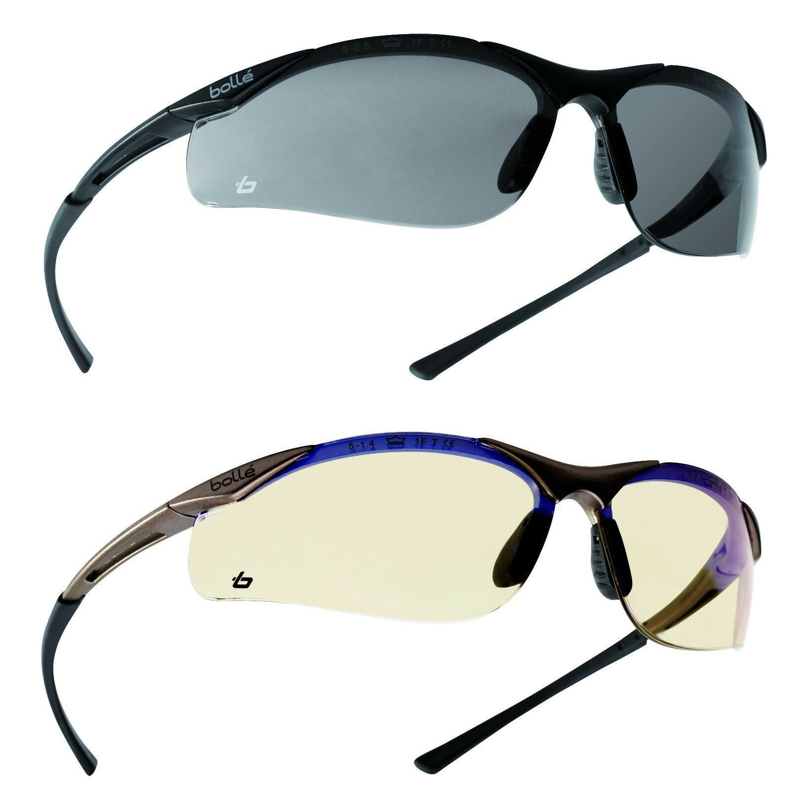 Lot 2 pairs Bollé predective glasses OUTLINE glasses ESP + Smoked