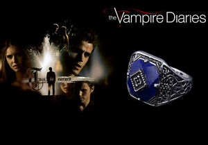 The-Vampire-Diaries-Jeremy-Gilbert-Lapis-Lazuli-Antique-Silver-Daylight-Ring