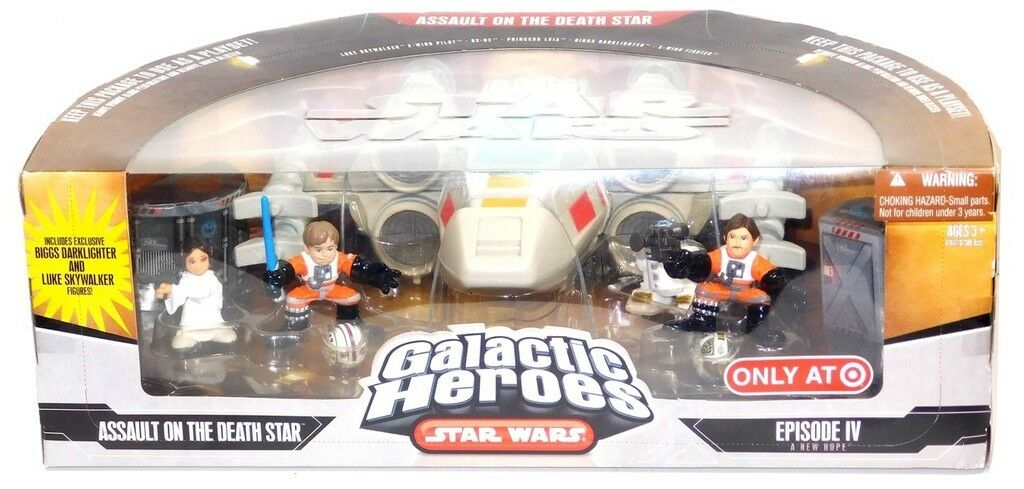 Star Wars A New Hope Galactic Heroes Cinema Scenes Target Assault on Death Star