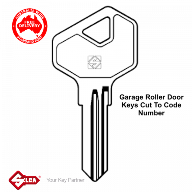 GLIDEROL, FIRMADOOR & FIRMAGLIDE Garage Roller Door Keys Cut To Code Number