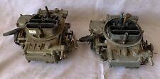 2x Pair Of Holley 600 Cfm Carburetors 9834 Electric Choke Need Rebuilding
