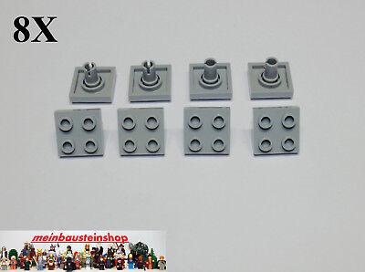 6x LEGO® 2x2 Platten mit Pins neu-dunkelgrau 15092 dark bluish gray plates