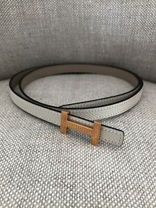 Hermes Focus Belt Buckle And 13 mm Reversible Leather Strap Size 80