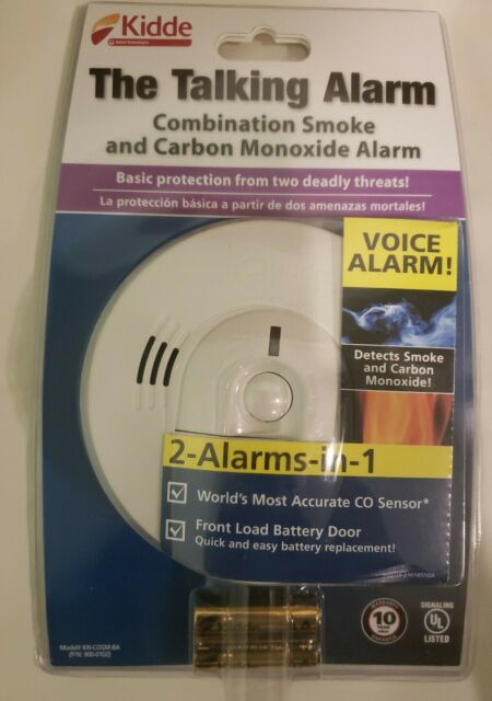 KIDDE The Talking Alarm Combo Smoke & Carbon Monoxide Voice Alarm NEW