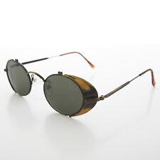 Side Shield Steampunk Goggle Sunglasses Vintage Antique Gold -Orson