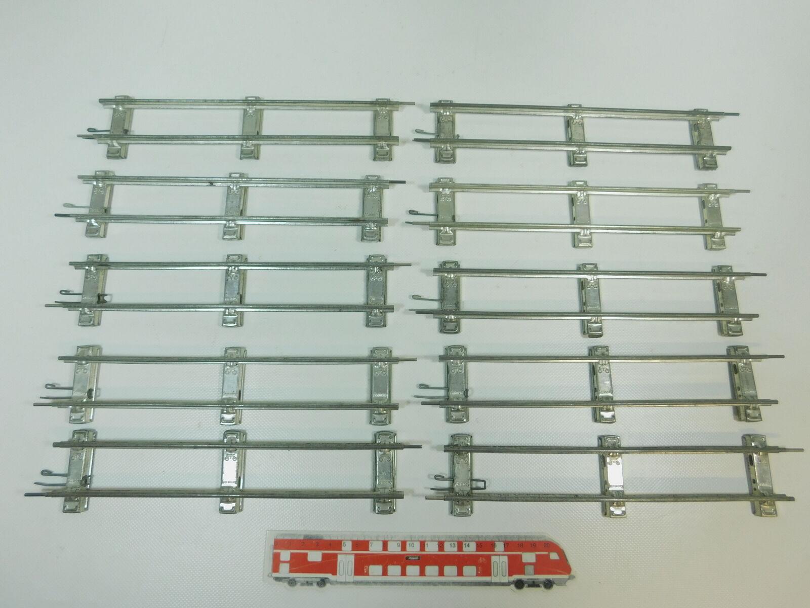 BK317-1  10x Märklin Spur 0 Gleis Gleisstück gerade (26 cm) für Uhrwerk-Betrieb