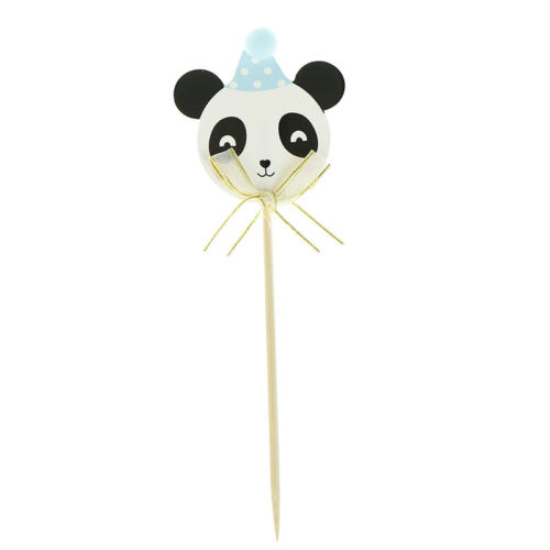 3pcs Cartoon Panda Paper Cake SPppers Cake Picks Birthday Wedding Party Decor SP