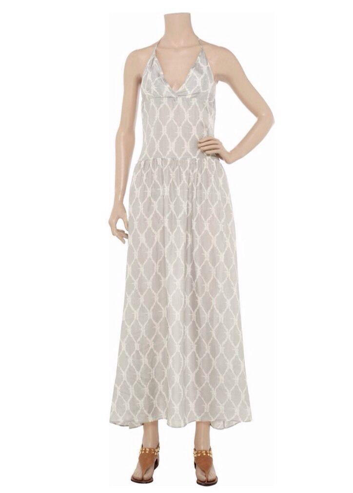 Tara Matthews Backless 100%Silk Maxi Dress Größe Small