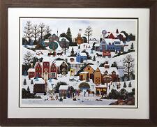 "Jane Wooster Scott ""Evergreens of Lancaster County"" Art FRAMED Litho Hand Signed"