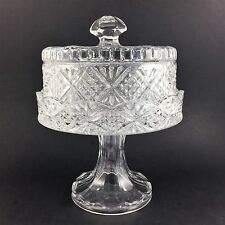 Godinger Dublin Small Footed Cake Plate Shannon Crystal Glass Pedestal With Lid