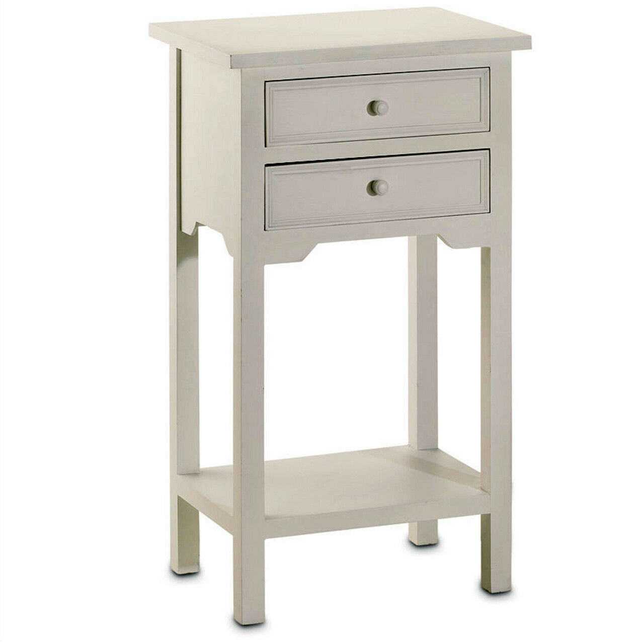 Night Stand Side Table White Nightstand Bedside End Table 2 Drawer Farmhouse For Sale Online