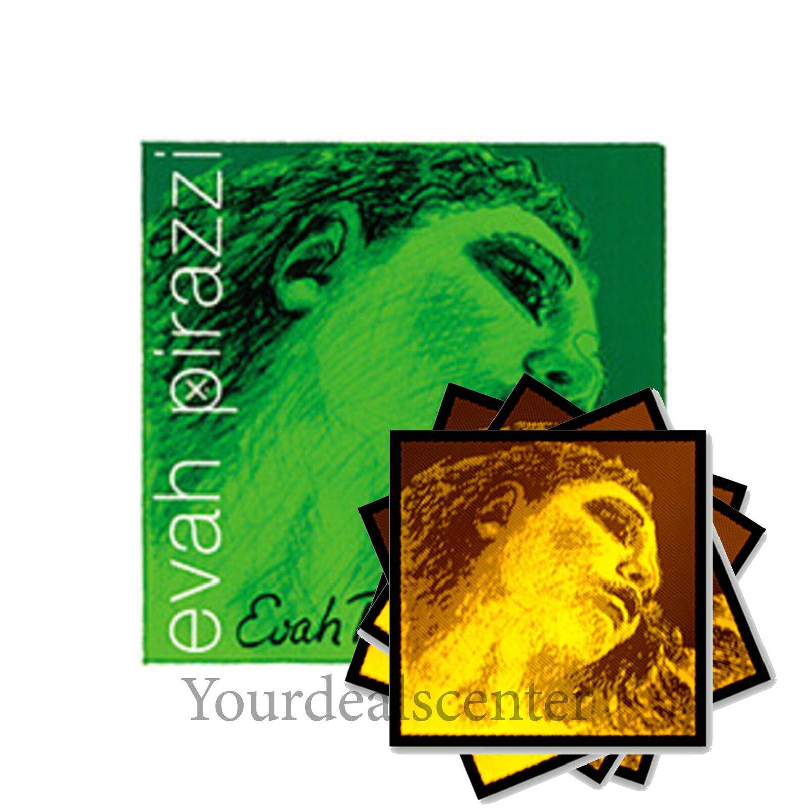 ^ Evah Pirazzi Violin String Set 4 4   Evah Pirazzi Gold  Steel E Ball Medium