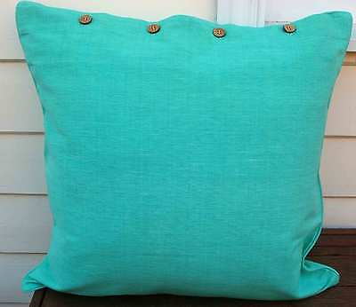 LARGE CUSHION COVER 60 X 60 - 'PALE AQUA' DAYBED COUCH THROW CUSHION COVER