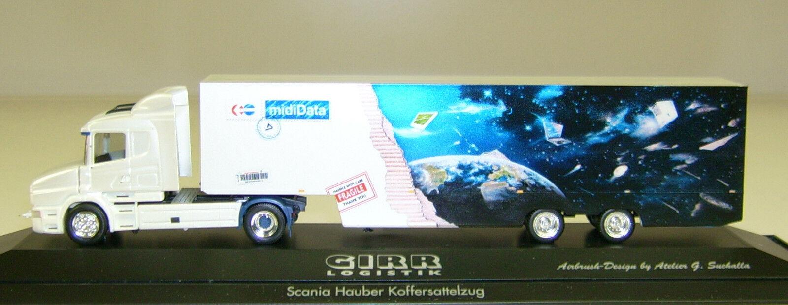 Herpa 120265 H0 Scania Hauber 96 Koffer-Sattelzug  GIRR  NEU-OVP  | König der Quantität