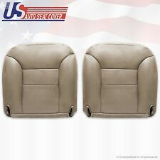 1995 to 1999 Chevy Tahoe Driver & Passenger Sides Leather Bottom Seat Covers Tan