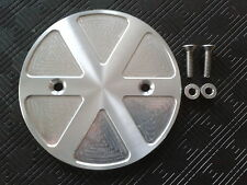 BUELL CNC ALUMINIUM SPOKED PATTERN SMALL PULLEY COVER  FITS 27 TOOTH PULLEYS