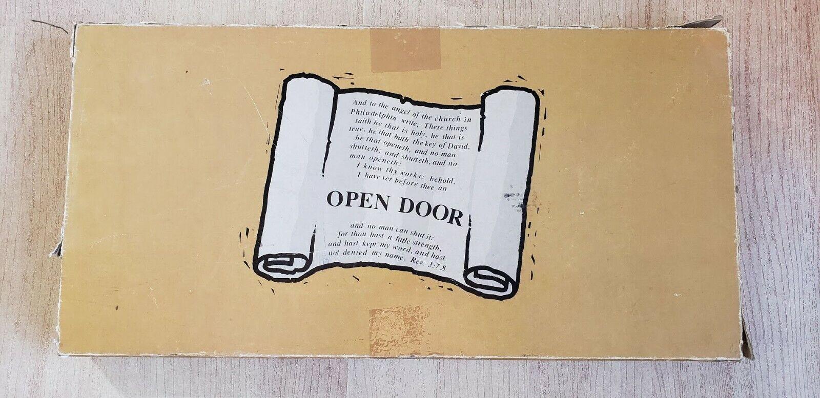 Porte ouverte  un fascinant et Instructional Bible jeu pour adultes - 1978