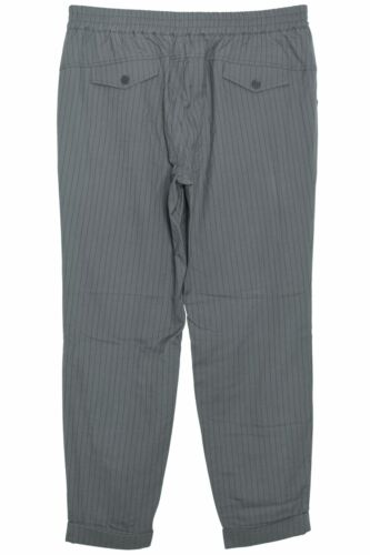 Sheego Schlupfhose stoffhose décontracté femmes gris fines rayures taille 50 52