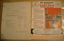 1957 Vintage Hydra Drive Hydraulic Post Driver Brochure Literature Ad