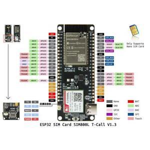 Details about T-Call V1 3 ESP32 Wireless Module GPRS Antenna SIM Card  SIM800L Practical